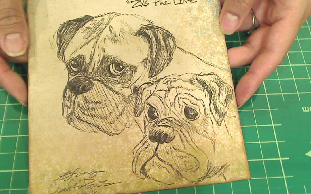 Boxers ATC and Drawing