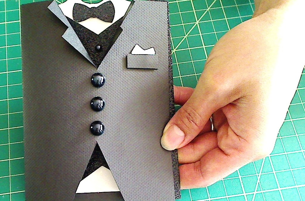Masculine Tuxedo Card