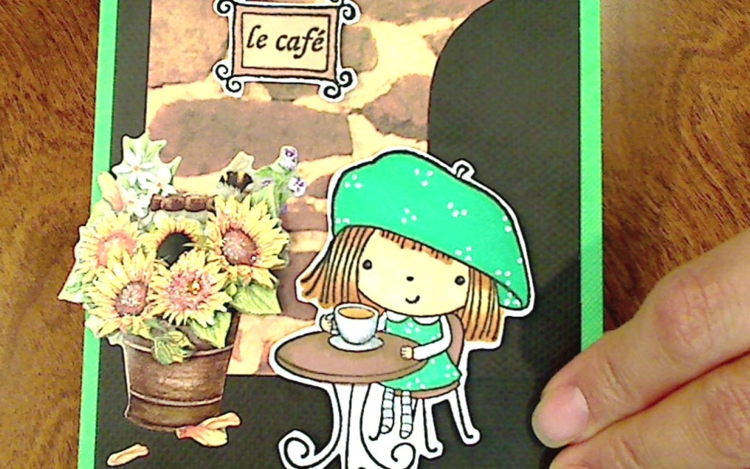 "Simple Scene Cards with ""Mimi in Paris"" Stamp"