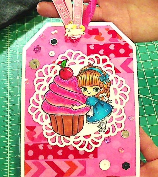 "Cutsie ""Miss Lilly Big Cupcake"" Tag"