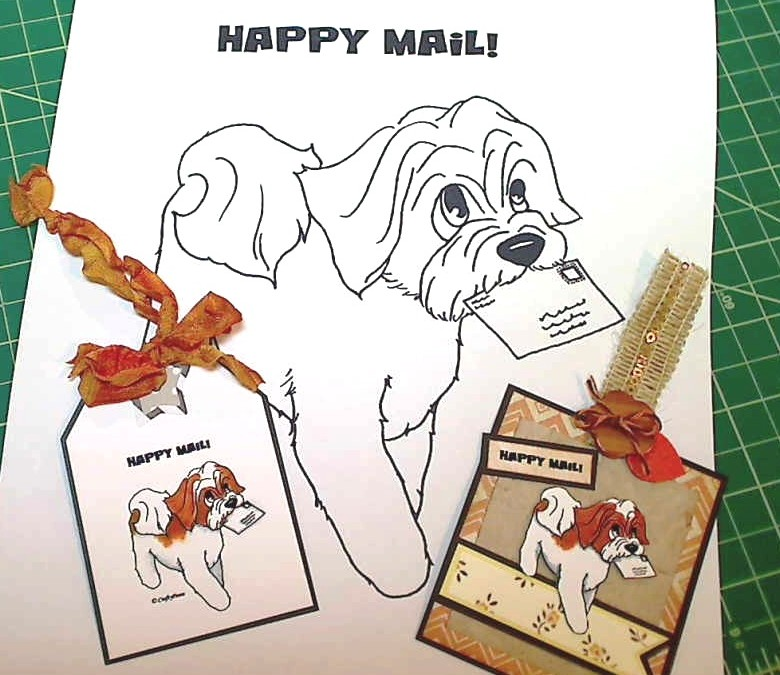 """Happy Mail"" aka ""Special Puppy Delivery"" Digi"