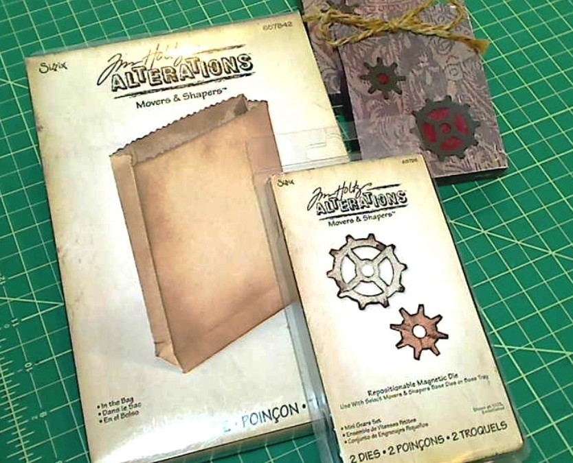 "Tim Holtz Magnetic Dies: ""In the Bag"" and ""Mini Gears Set"""