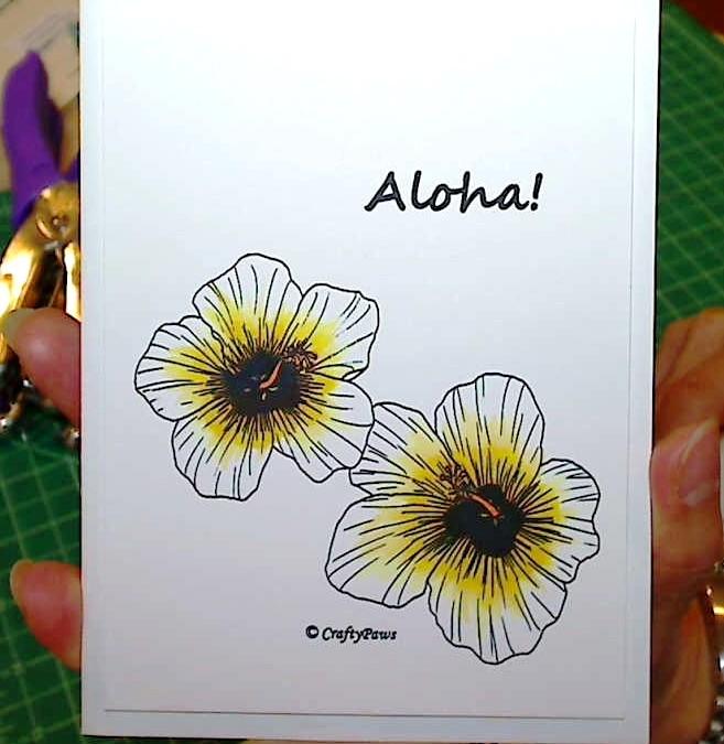 Aloha Flowers CAS Card – free digi