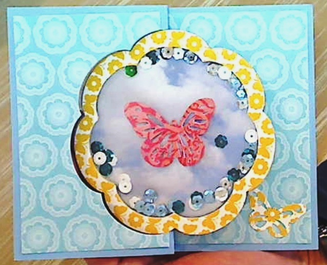 Shaker Swing Card – With Tutorial