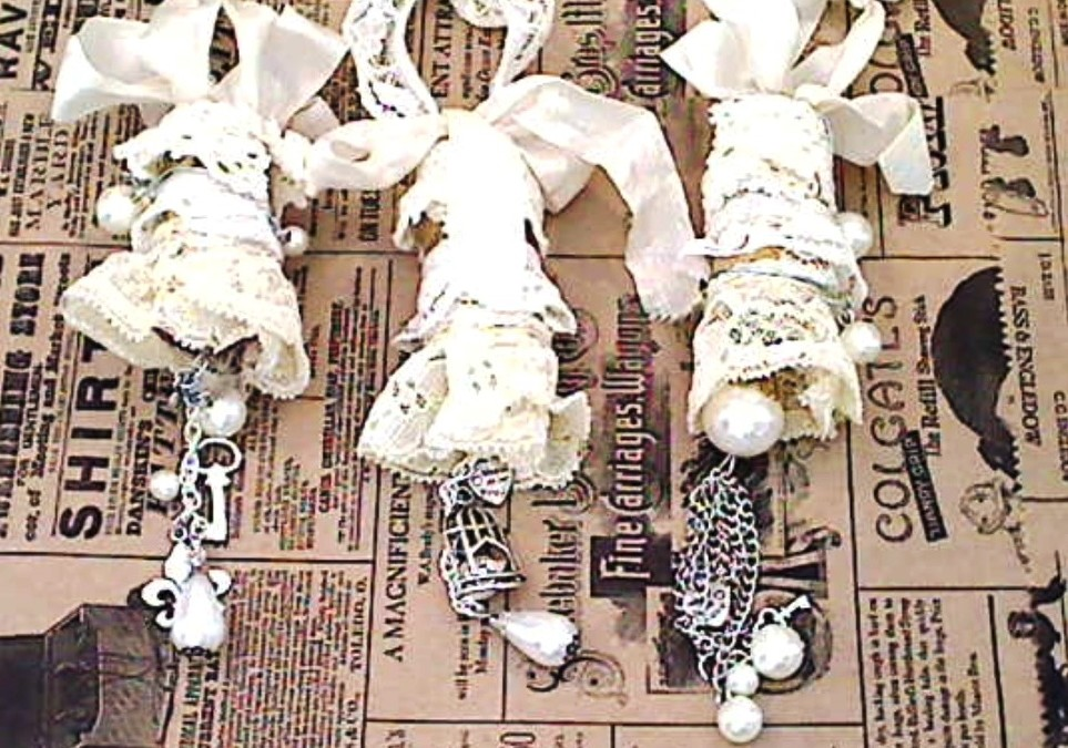 Shabby Chic Altered Corks