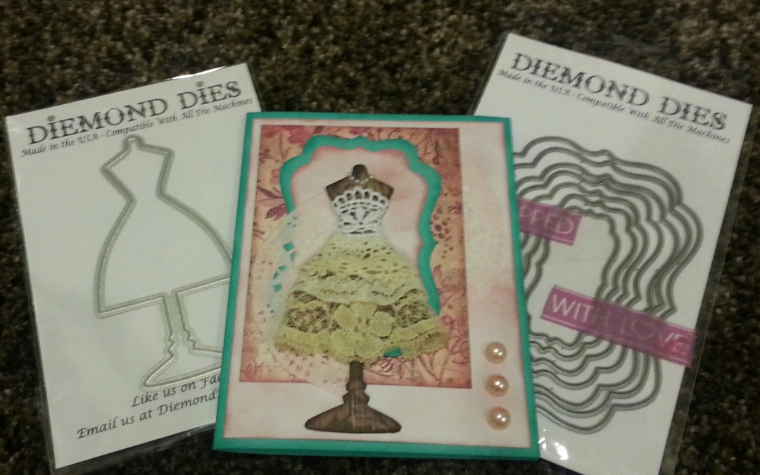 Diemond Dies Dress Form Card