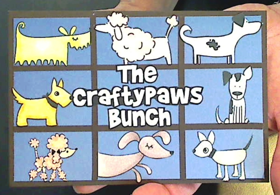 The CraftyPaws Bunch Card and Vintage Card