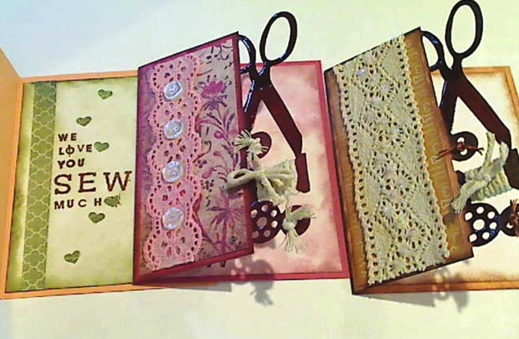 Cards Using Tim Holtz Sewing Edge Die