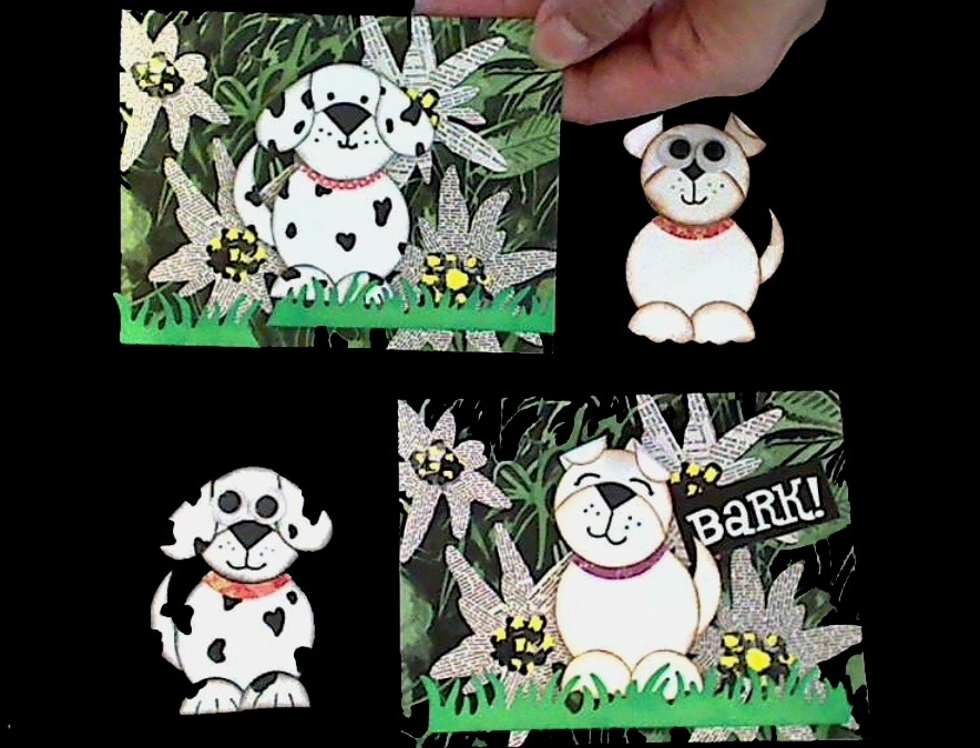 Circle Punch Art Doggy Cards for Firefighters