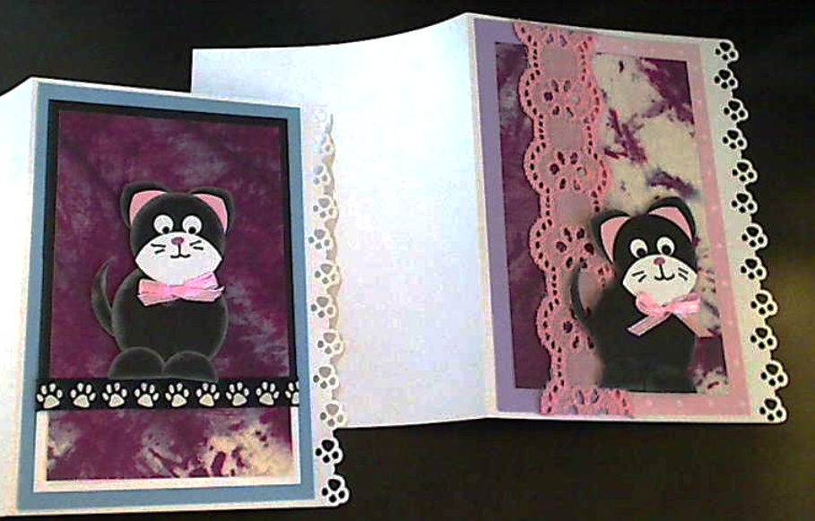 Punch Art Kitty Tags and Cards