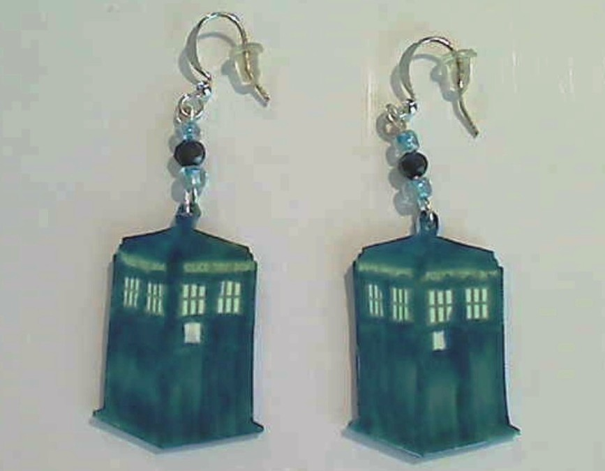Doctor Who Tardis Earrings to Celebrate New season and Doctor!