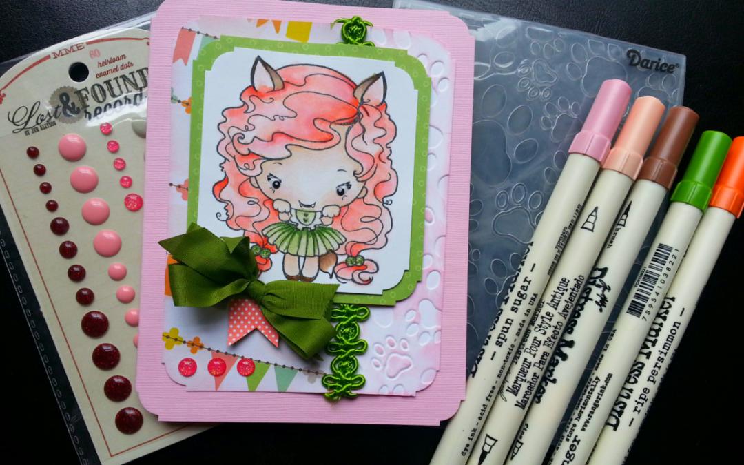 """Foxy Girl"" Card"