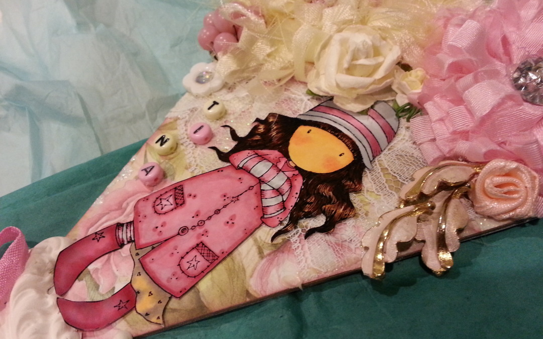 Shabby Chic Pennant with Gorjuss Girl
