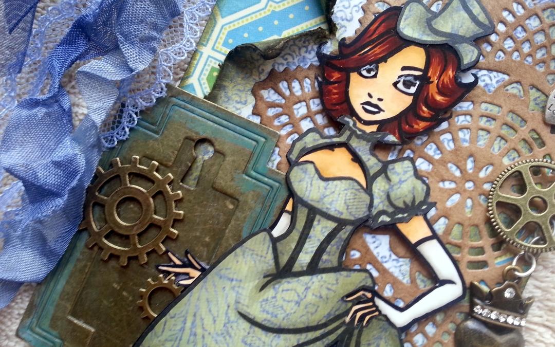 """Steampunk Scarlett"" – Free Digi! Thanks for the Steampunk Nomination!!!"