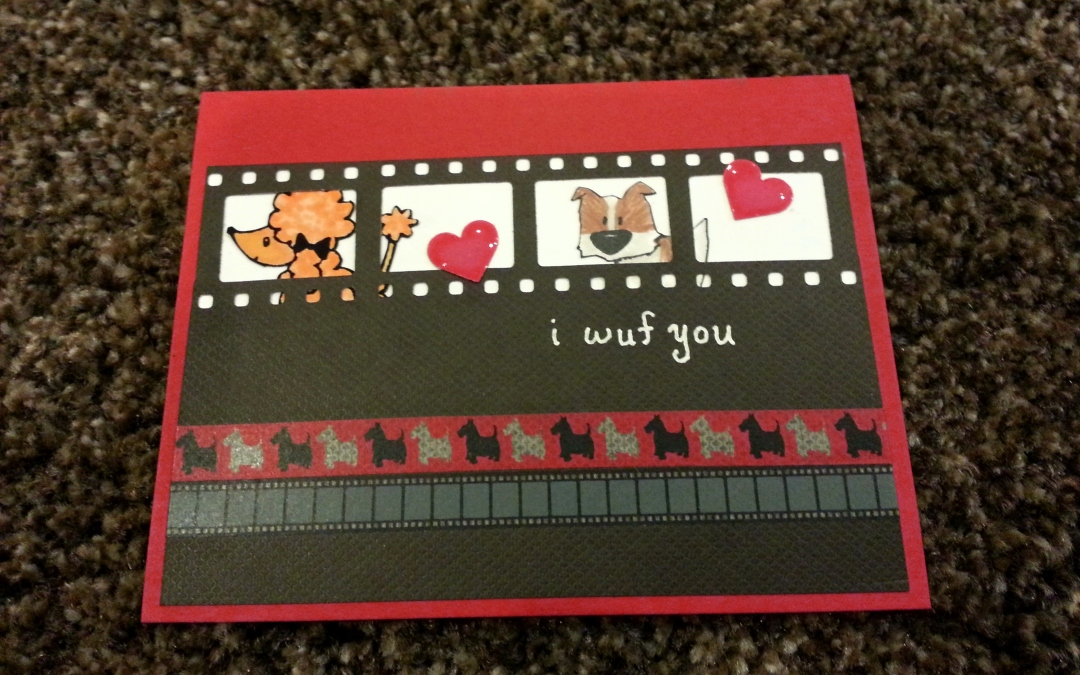 I Wuf You Card for Operation Write Home