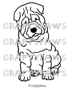 CraftyPaws-Sweet Shar Pei WM