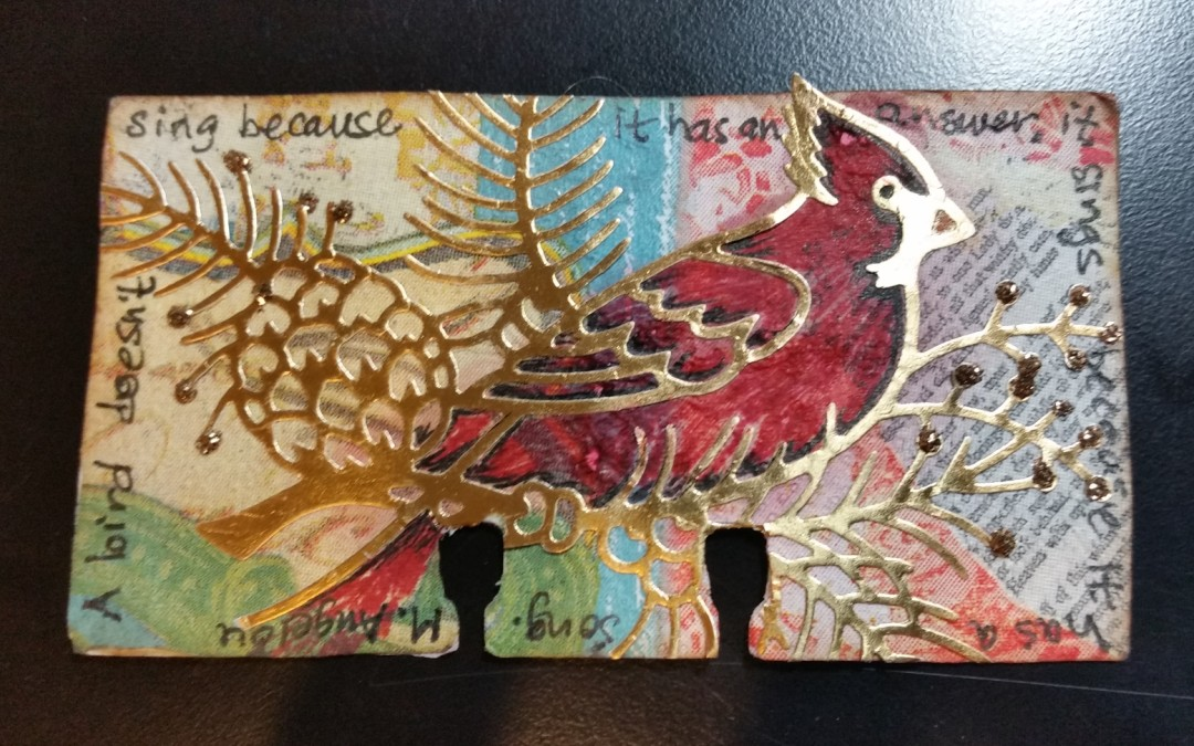 My First Rolodex Card–Like Mini Art Journaling