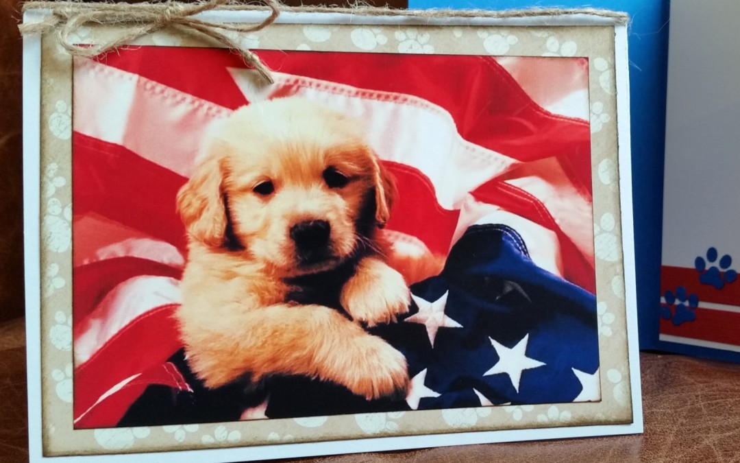 Patriotic Dog Cards for Service Men and Women