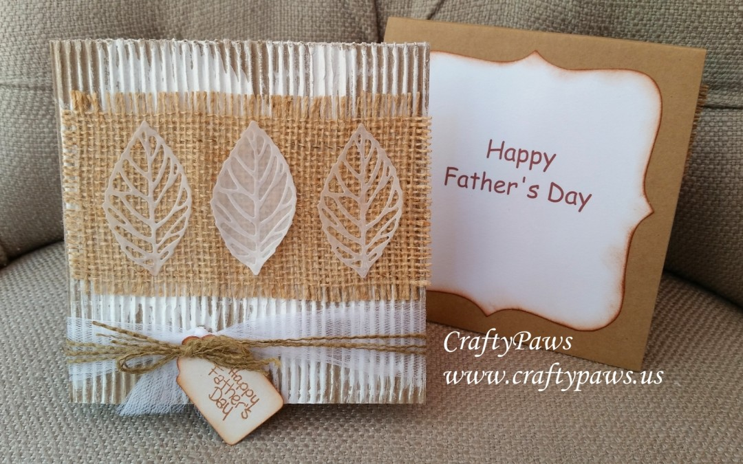 Rustic Father's Day Card Tutorial