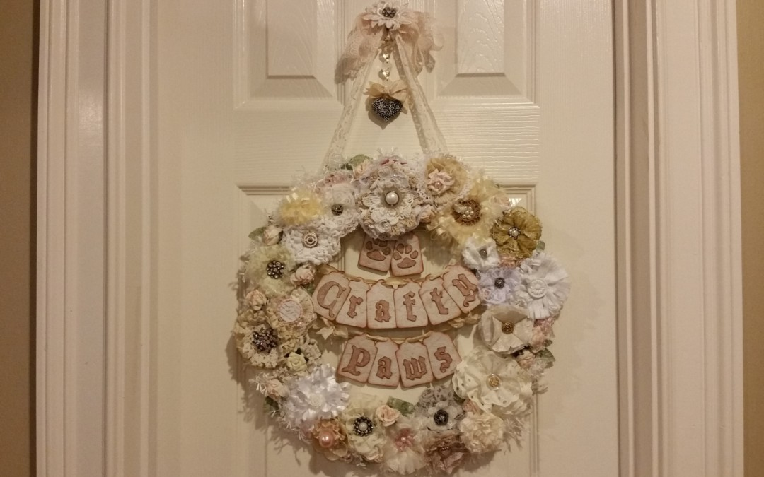 Shabby Chic Wreath Name Sign
