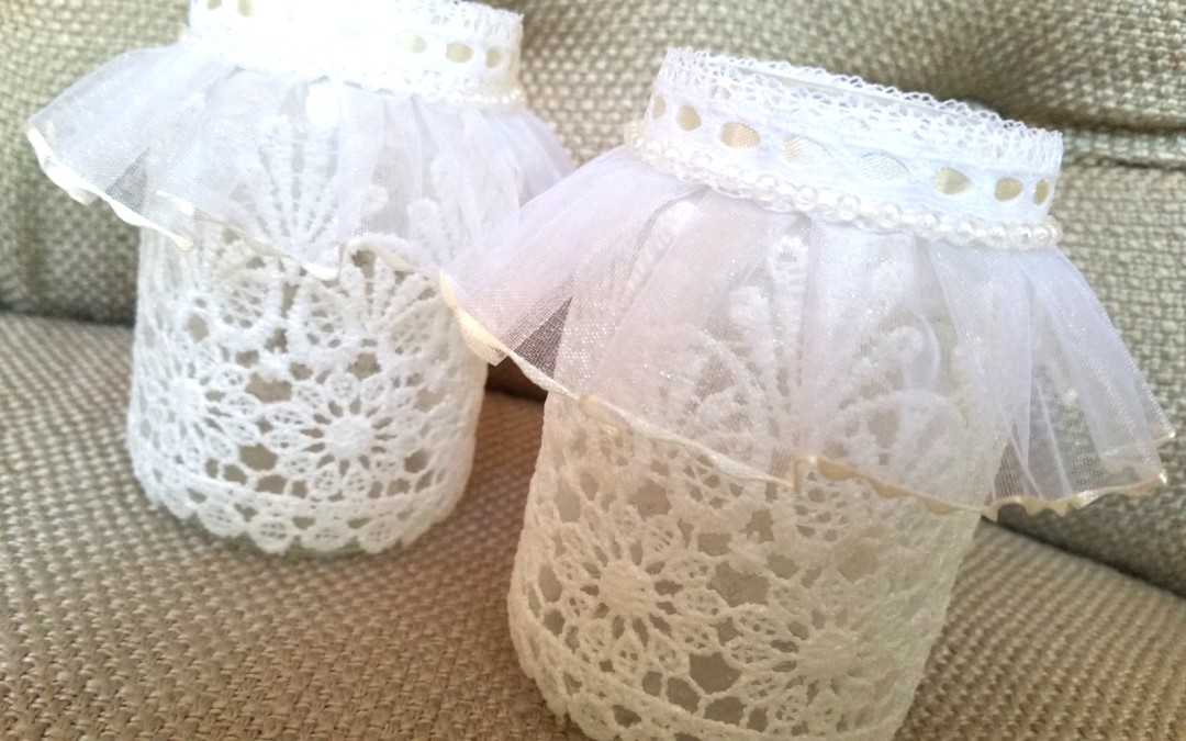 Diy Lace Votive Candle Holders Craftypaws