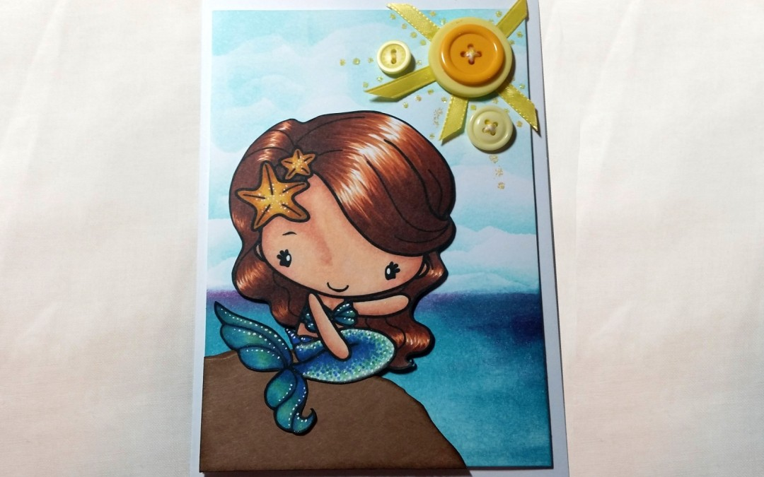 TGF Mermaid Anya Summer Scene Card