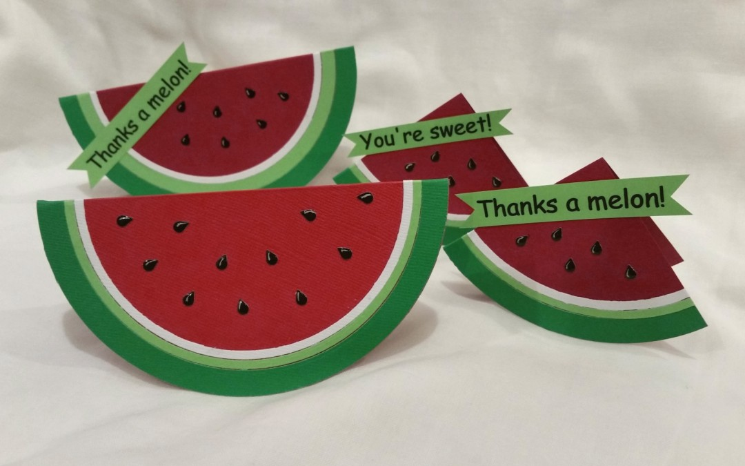 Watermelon Wedge and Slice Cards