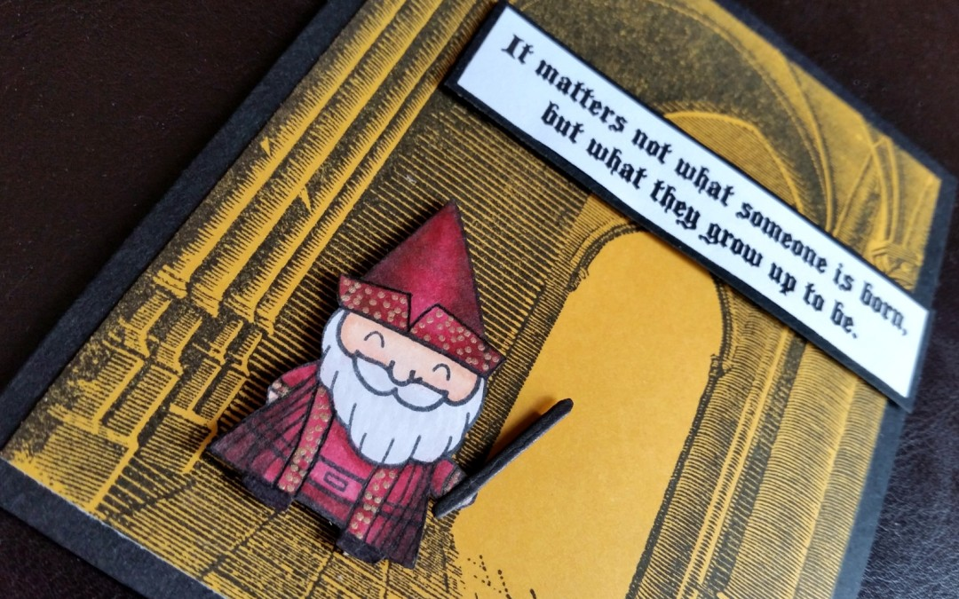 Gnome Turned Dumbledore! Back to School Card