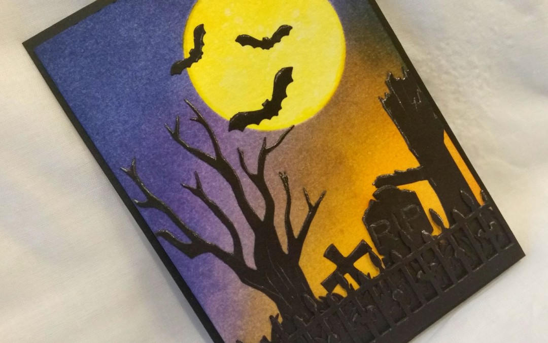 Spooky Silhouette Halloween Card