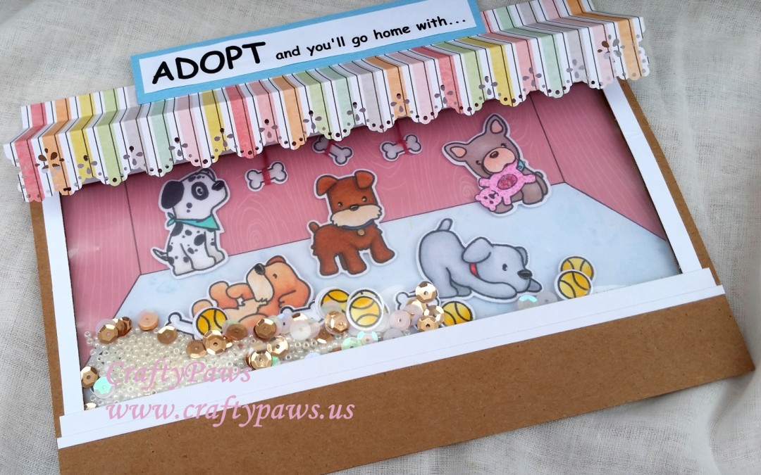 Puppy Adoption Floating Shaker Card – MarkerPOP GDTP