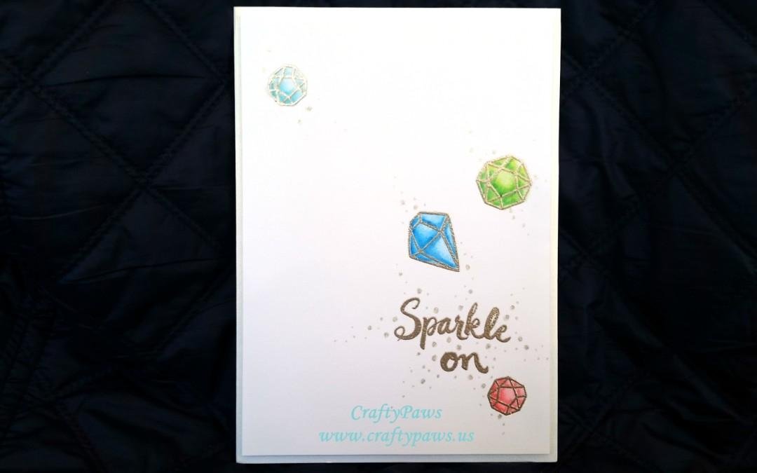 Sparkle On CAS Birthday Card