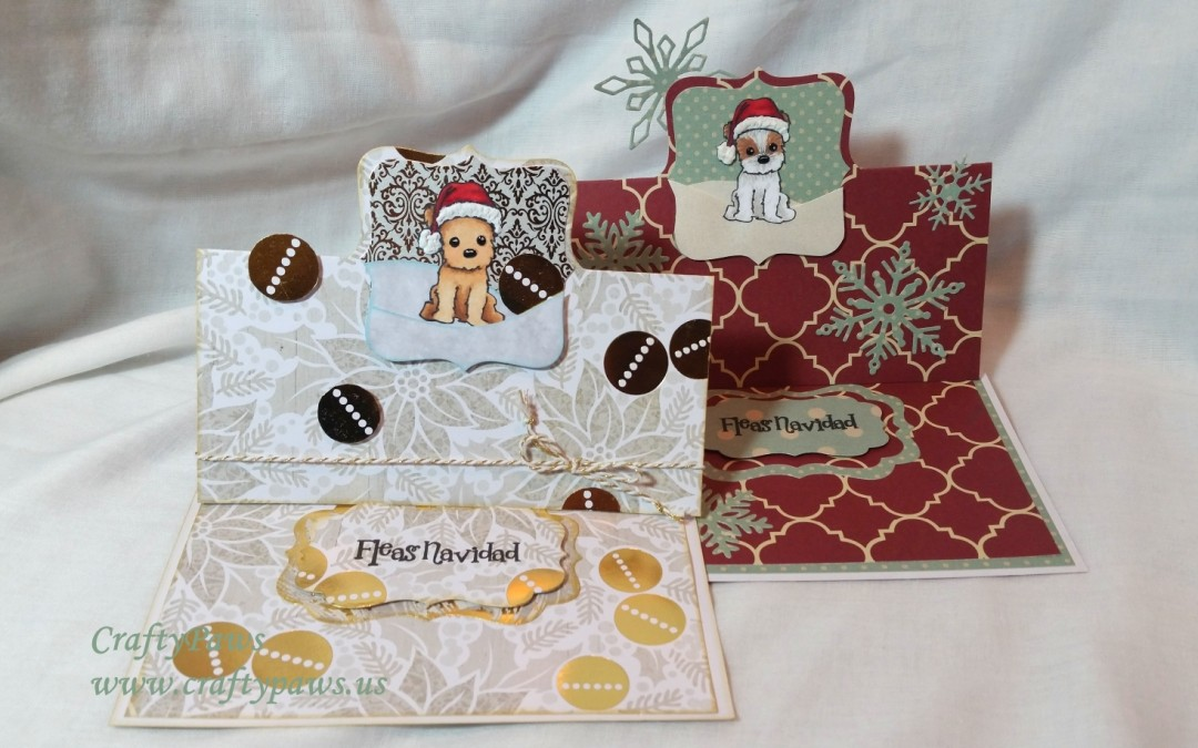Christmas Puppy EZ Flip It Cards – Diemond Dies DTP + Giveaway