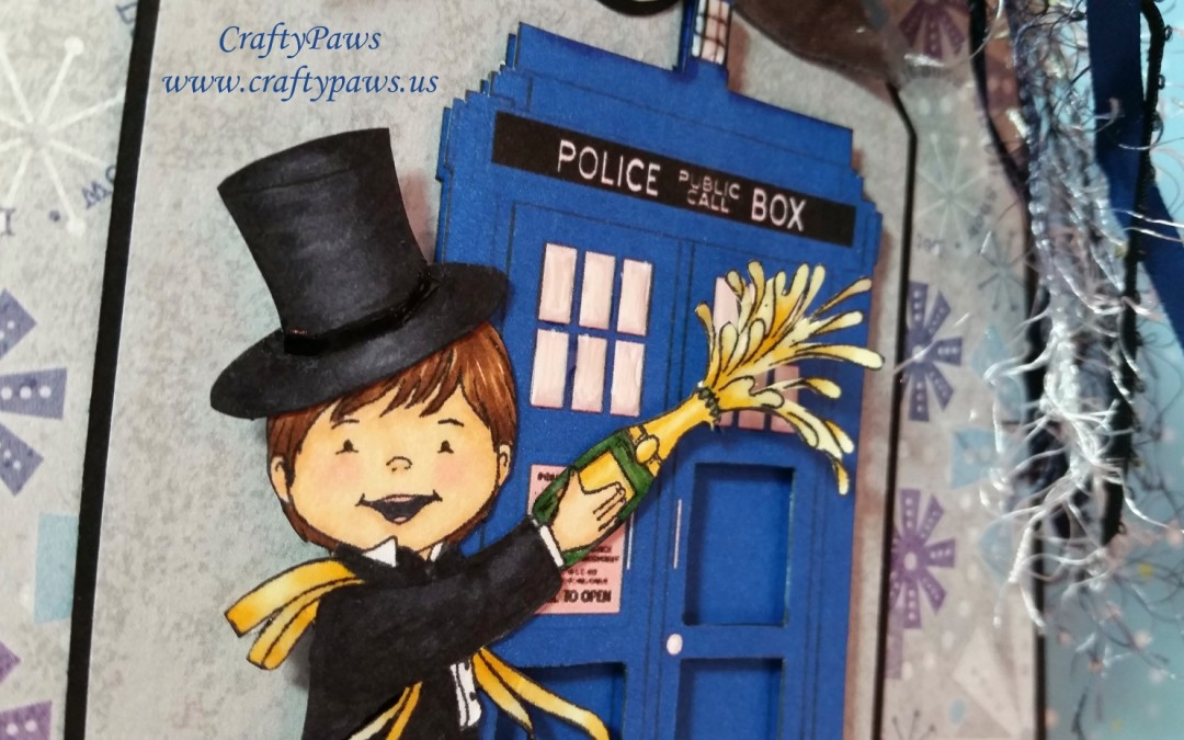 Doctor Who Inspired Happy New Year Card
