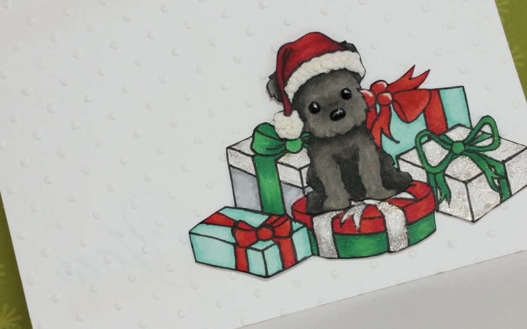 CAS Christmas Puppy Card