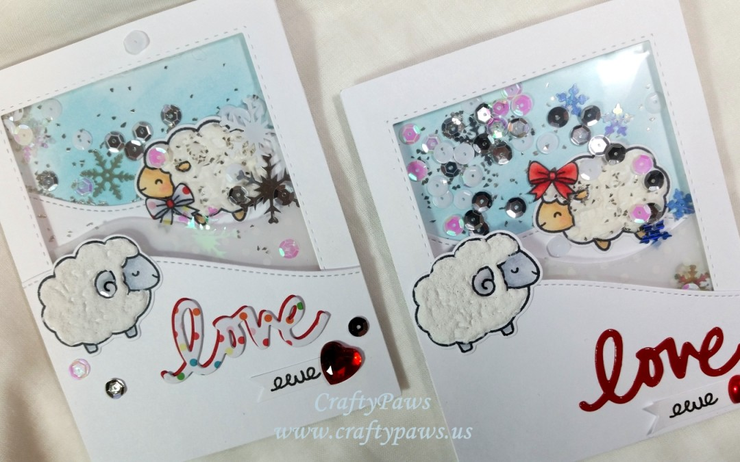 Multi-Layered Shaker Card with Lawn Fawn's Baaah Humbug