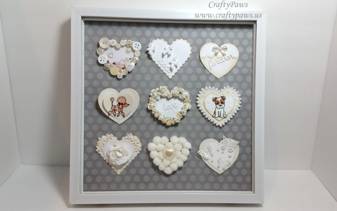 DIY Valentines Embellishments into a Framed Gift