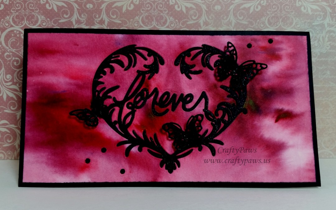 Romantic Valentine with Detailed Inlaid Die Cutting