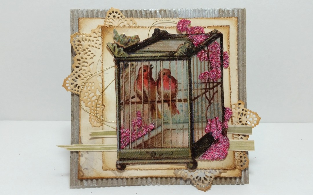 Shabby Chic Vintage Spring Card
