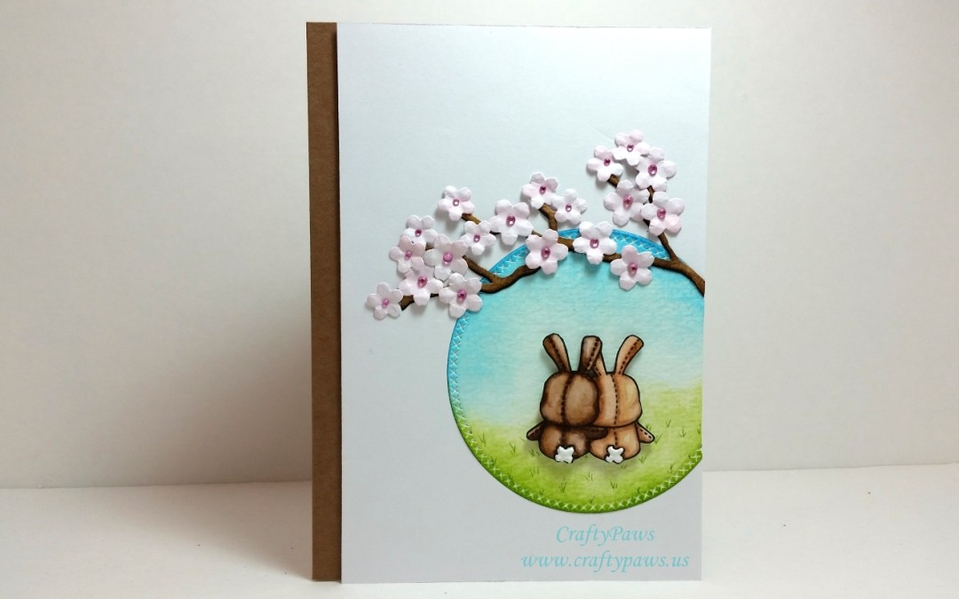 Easter Stamps for Spring Anniversary Card