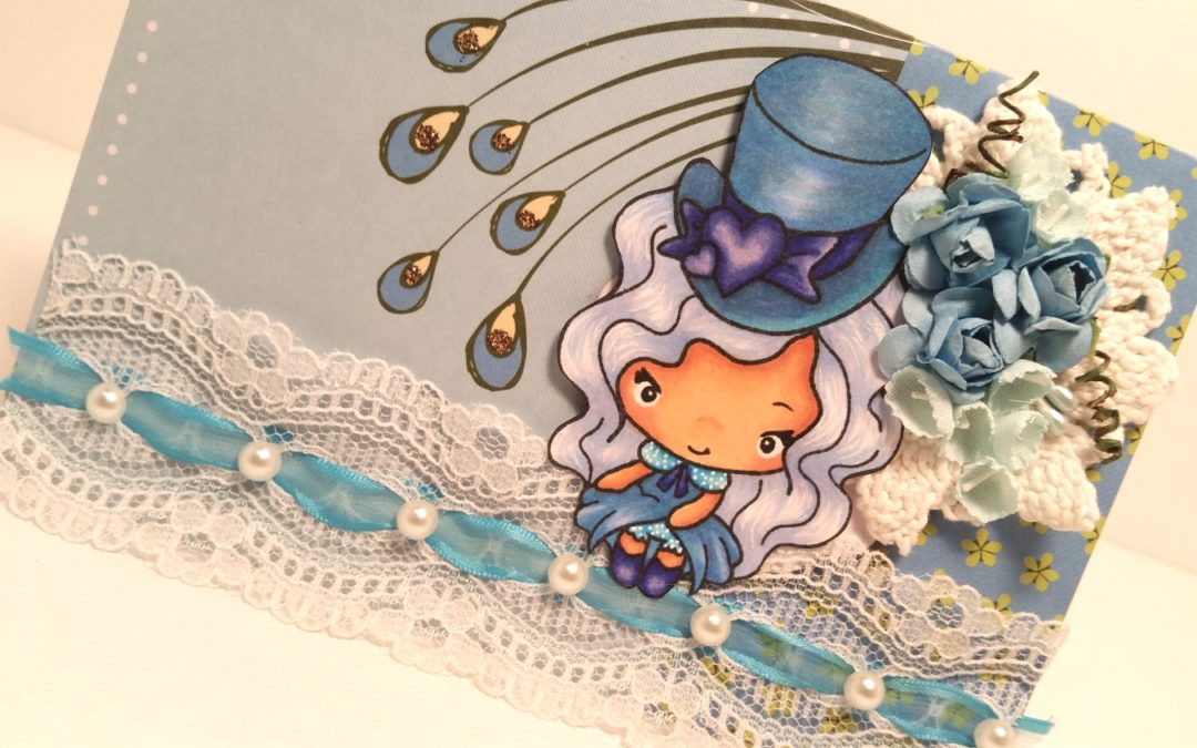 The Greeting Farm Hatters Card in Blues (My Favorite Color)
