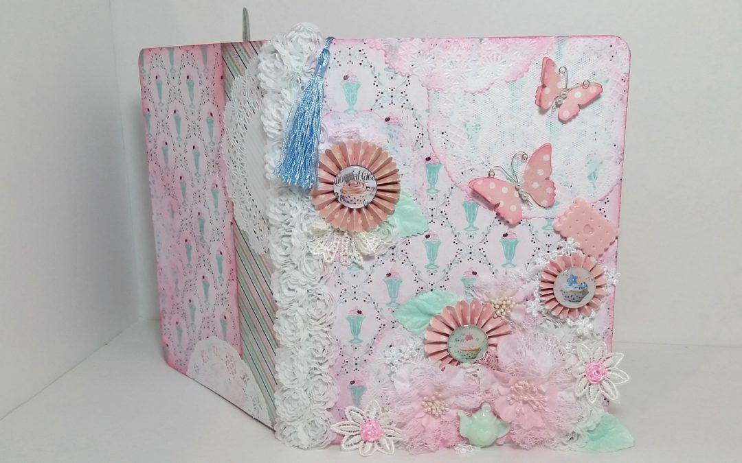 Summer Garden Tea Party Altered Journal – FlairbyMe Etsy Shoppe GDTP