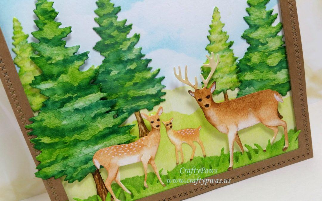 Nature Scene Card with Diemond Dies — Look, No Stamps!