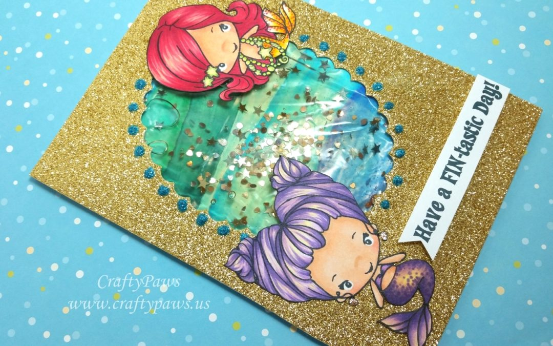 Watery Shaker Birthday Card Tutorial
