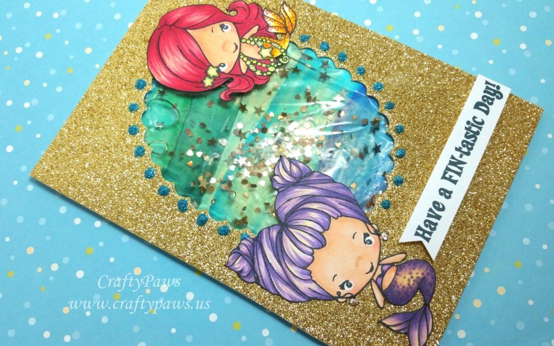 Watery Shaker Birthday Card Tutorial
