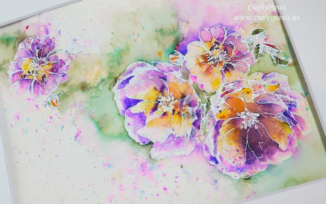 Color Burst Watercoloring!