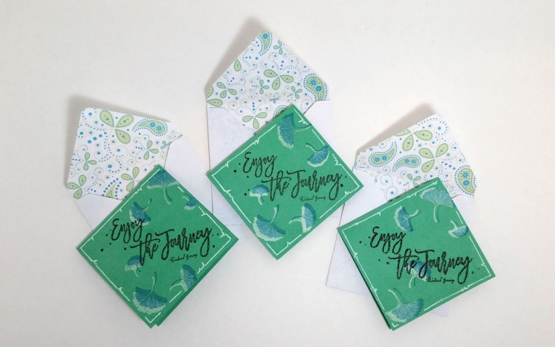 Quick and Easy Shadow Stamped Note Cards