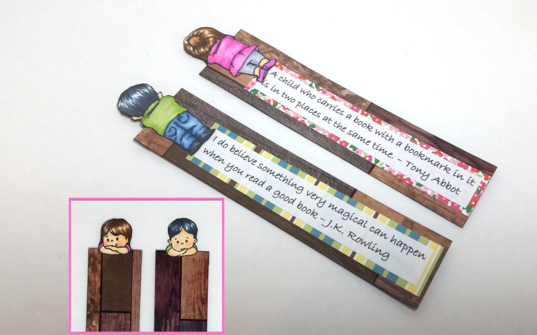 Cute Front and Back Bookmarks for Kids