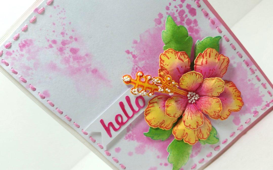 Dimensional Floral CAS Card