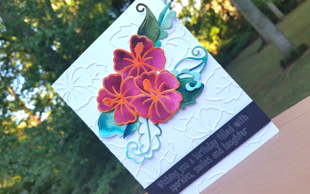 Using Die Cuts for Faux Embossing