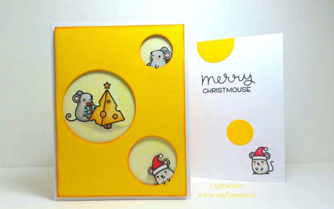 Cheesy Merry Christmouse Card